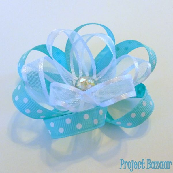 Project Bazaar: Flower Hair Clip Tutorial  FAST & EASY!! Perfect flower hair clips!!