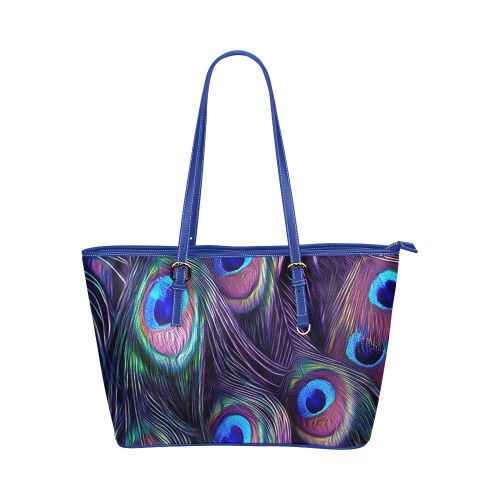 Peacock Feather Leather Tote Bag/Large. FREE Shipping. FREE Returns. #bags #peacock