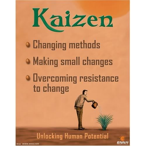 Kaizen -- One small step at a time.