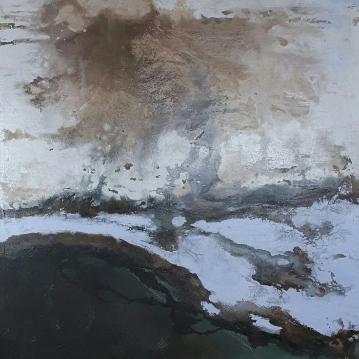 """Cloud's Music"" Mixed Media on Canvas 92 x 92 cm by Nidia Hansen"
