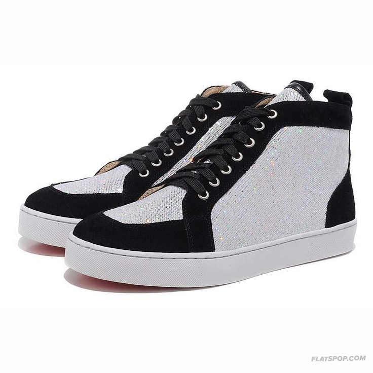 Christian Louboutin Paillette Casual High Upper Mens Sneakers