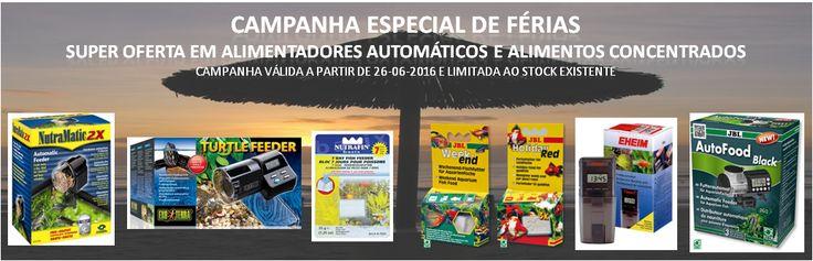 Campanha Especial de Férias - Super Descontos em Alimentadores Automáticos e Alimentos para Férias | Aquacomets - Aquários, filtros e acessórios para aquariofilia.