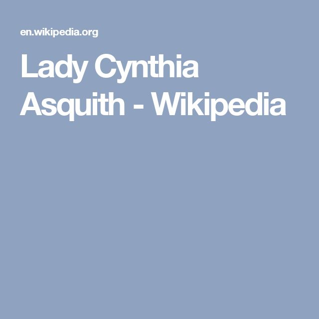 Lady Cynthia Asquith - Wikipedia