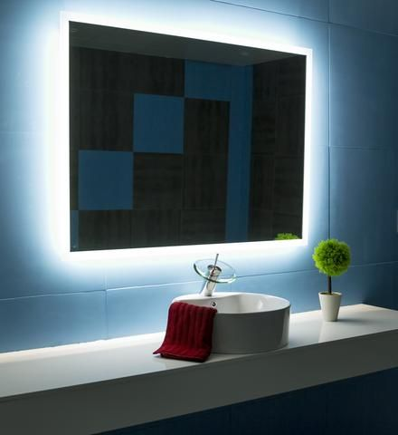 BACKLIT MIRROR RECTANGLE 48 X 36 in