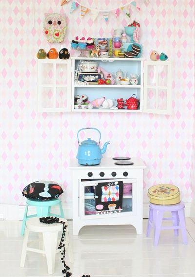 Vintage kidsroom pinterest kinderk che for Kinderzimmer vintage