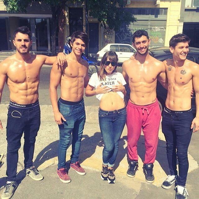 Cami salazar con los chicos de combate , bruno , gonza, paio, nacho ♥♥♥♥♥