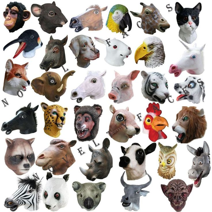 Animal Kingdom Fancy Party Overhead Masks LATEX