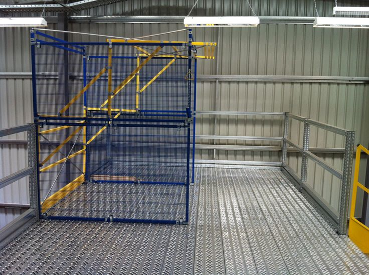 Up and over gates to place goods on the next level.  www.metalsistemaustralia.com.au