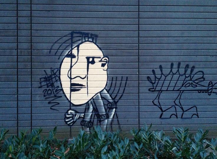Graffiti op voormalig ziekenhuis GZG Den Bosch