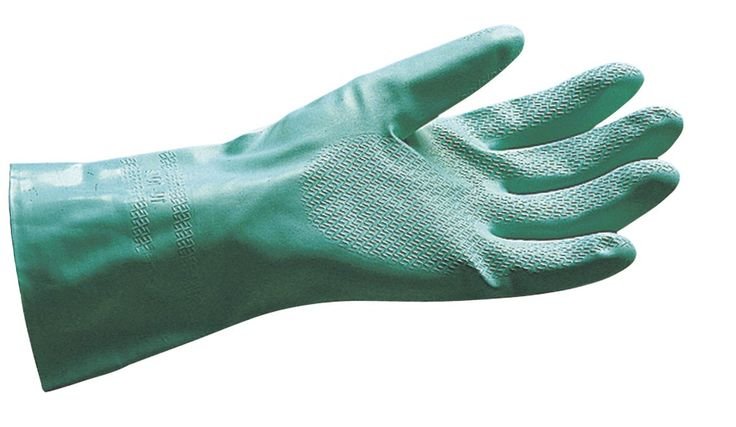 SAS Safety 6534 Flock Lined Nitrile Chemical Gloves, X-Large