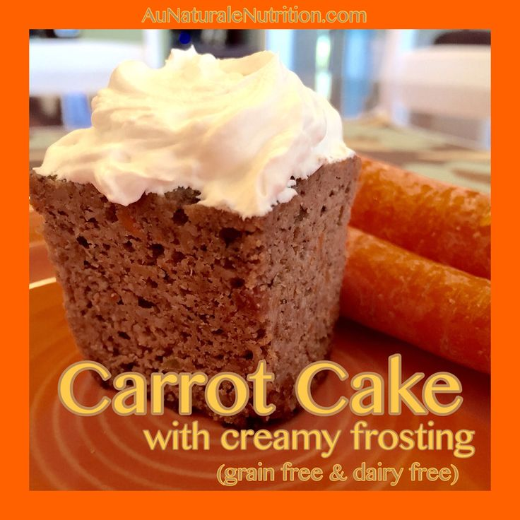 Carrot Cake with Tangy Creamy Frosting (grain free, gluten free, dairy free, paleo)  Ultra rich & delicious!  by Jenny at www.AuNaturaleNutrition.com