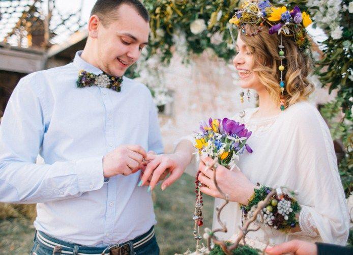 Natural,Boho Hippie Chic Wedding ceremony | fab mood