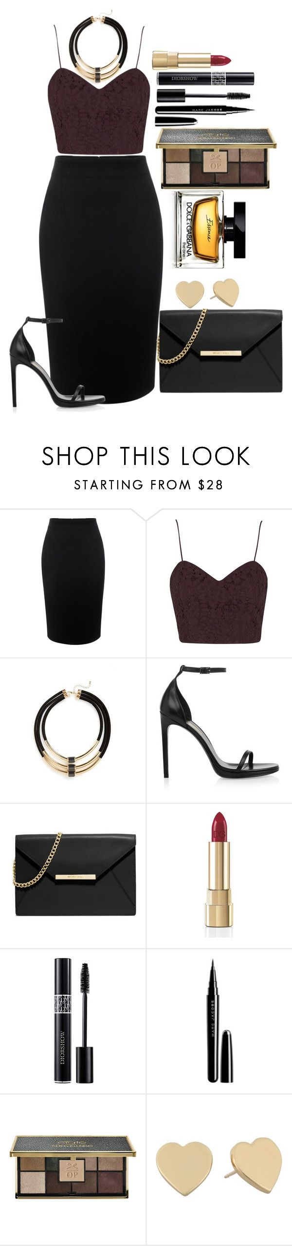"""Untitled #1288"" by fabianarveloc on Polyvore featuring Alexander McQueen, Topshop, Yves Saint Laurent, MICHAEL Michael Kors, Dolce&Gabbana, Christian Dior, Marc Jacobs, Ciaté and Kate Spade"