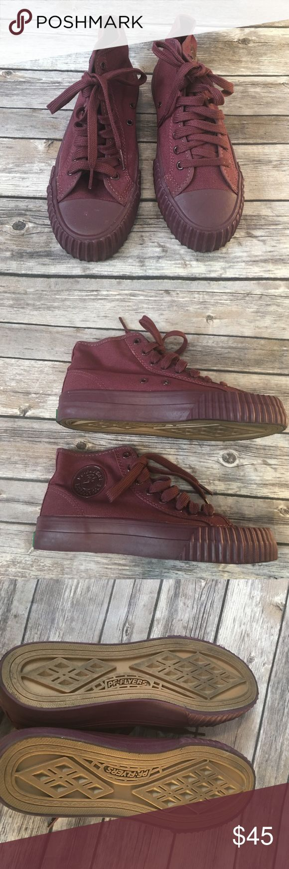 Burgundy PF Flyers Men's PF-Flyers size 6 women can wear them they are 7 1/2 in women's size PF Flyers Shoes