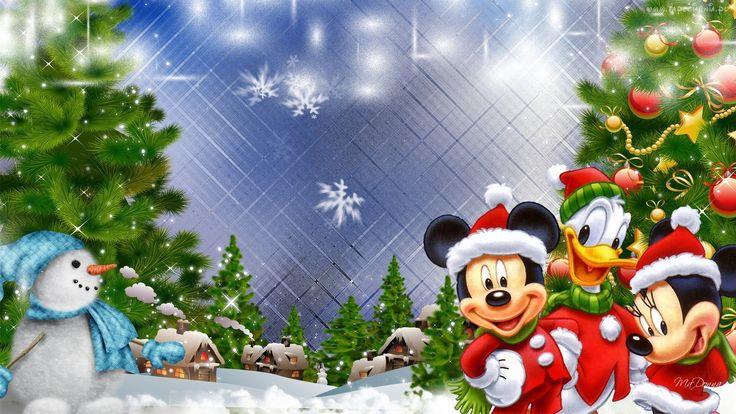 Edycja Tapety Myszka, Miki, Bałwanek, Święta