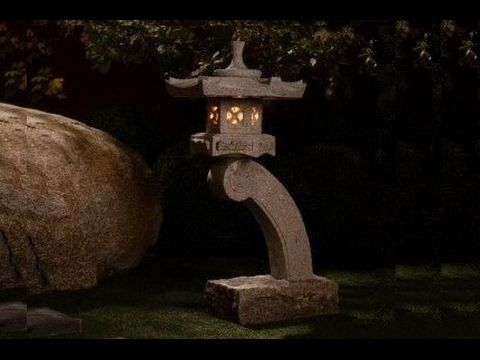 How To Make A Concrete Rankei Lantern   Part 2   YouTube. Zen GardensJapanese  GardensSerenity ...