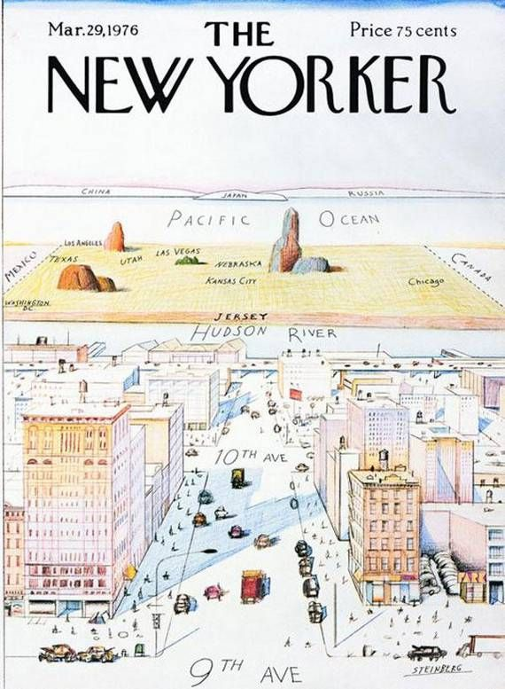 Best Magazine Covers photo: The New Yorker, New York Cities, 9Th Avenue, Mad Magazines, Saulsteinberg, Saul Steinberg, Magazines Covers, Apples Maps, New Yorker Covers