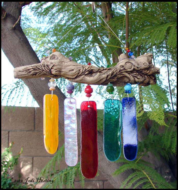 17 best images about glass windchimes on pinterest glass for How to make stained glass in driftwood