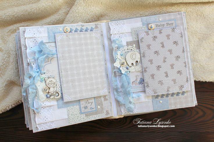 Нежный альбом для мальчика, фотоальбом ручной работы, новорожденный, годовасие, крестины, подарок