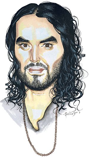 Over soup and red juice in an East End café that helps the homeless, the comedian-activist says capitalism has failed, gives money to a drug addict and tells Lucy Kellaway to shut up. Illustration by James Ferguson of Russell Brand