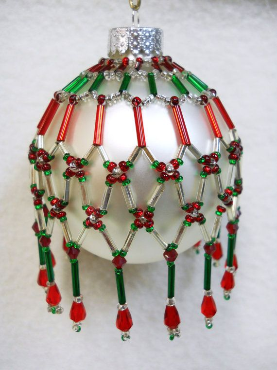 PATTERN+ONLY+Beaded+Christmas+Ornament+by+HouseofWhisperingFir