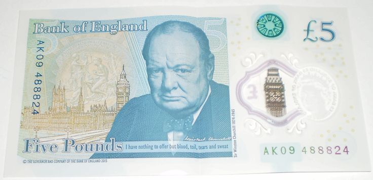 New Bank of England £5 Polymer Note AK09 488824 AK09488824 Chinese Lucky 888