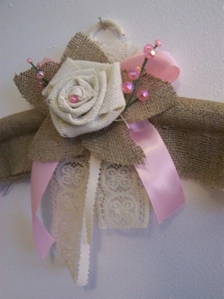 burlap tablecloth for sale | Burlap Bridal-burlap hanger, roses, burlap roses, burlap.