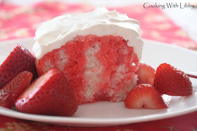 Strawberry Jello Cake Recipe Frozen Strawberries: 227 Best Images About Cake Mix Recipes On Pinterest