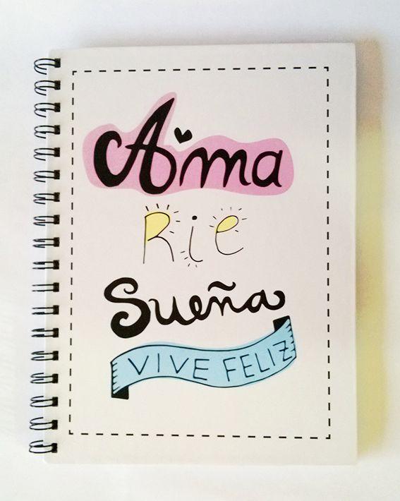 """Cuaderno """"Vive feliz"""""""