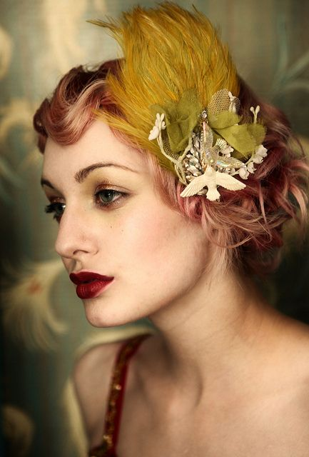 pretty hair color and makeup