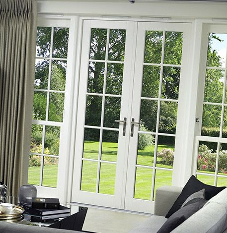 exterior french patio doors window styles outswing with blinds built in screens