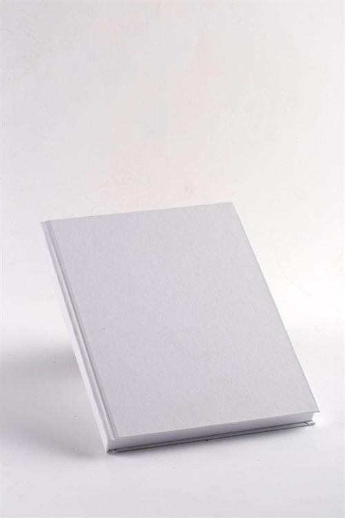 Gæstebog - Gæstebøger A4 hvid lærred model Boston