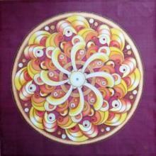 """Hedvábná Mandala """"Cesta Proměn""""  Mandala painted on silk"""