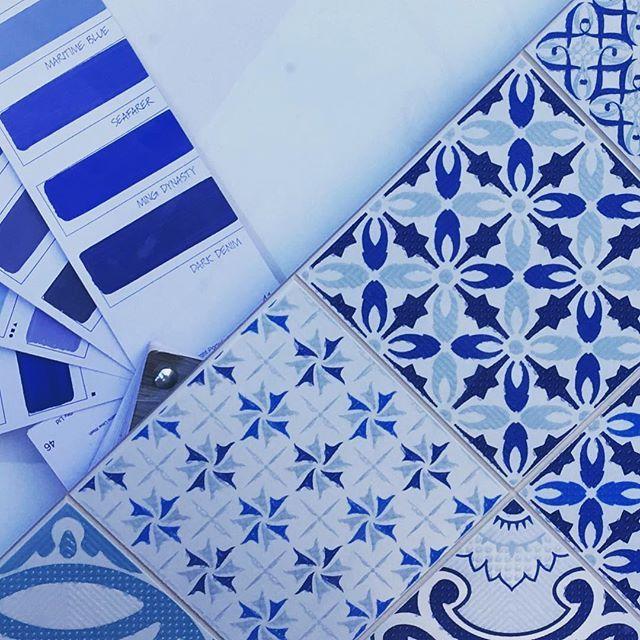 Tuesday Blues #ontrend #tiles #inhousedesign #southerntile #tileideas #bathrooms #lovetiles