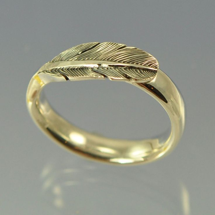 Angel Feather Ring with Cremation Ashes
