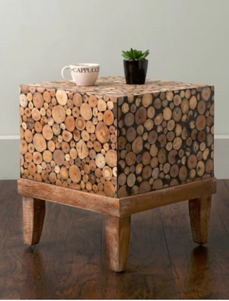 Teak Patio Furniture Small Accent Table The Conversation Piece Unique Natural  #EastAtMains