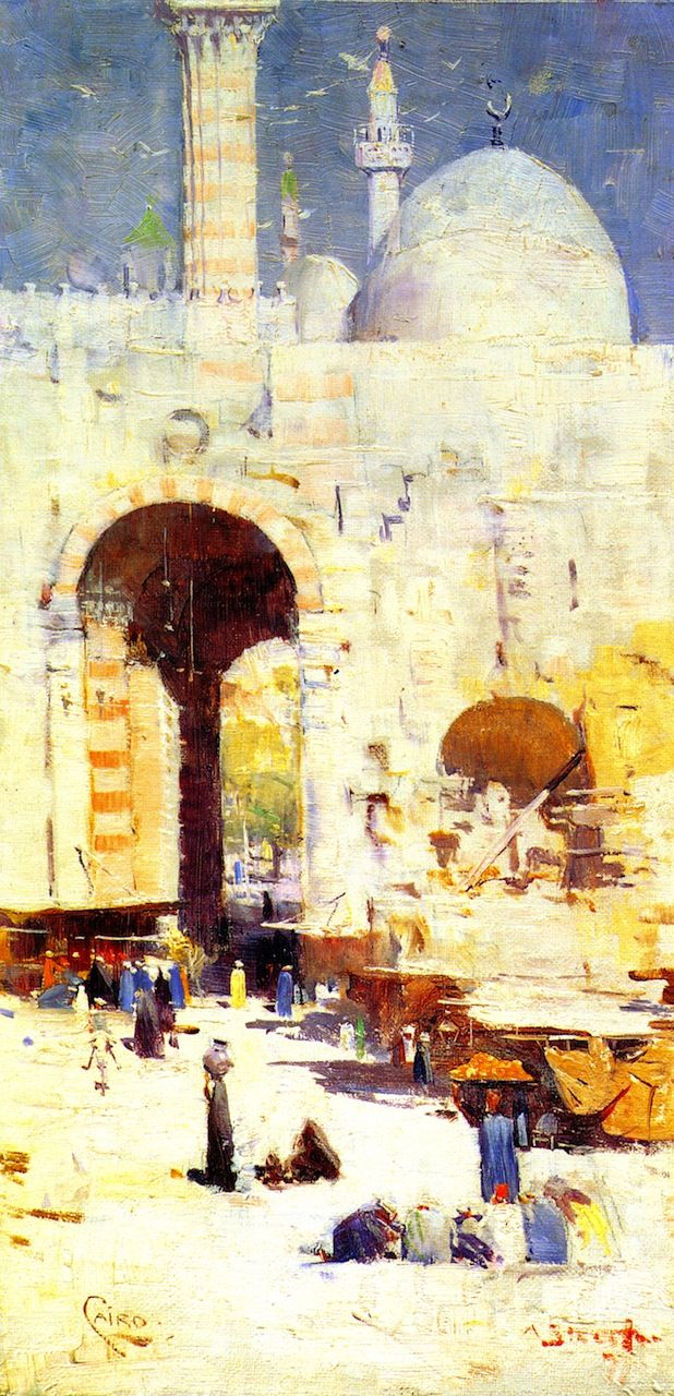 Sir Arthur Ernest Streeton (Australian, 1867 – 1943) 'Cairo Street', 1897