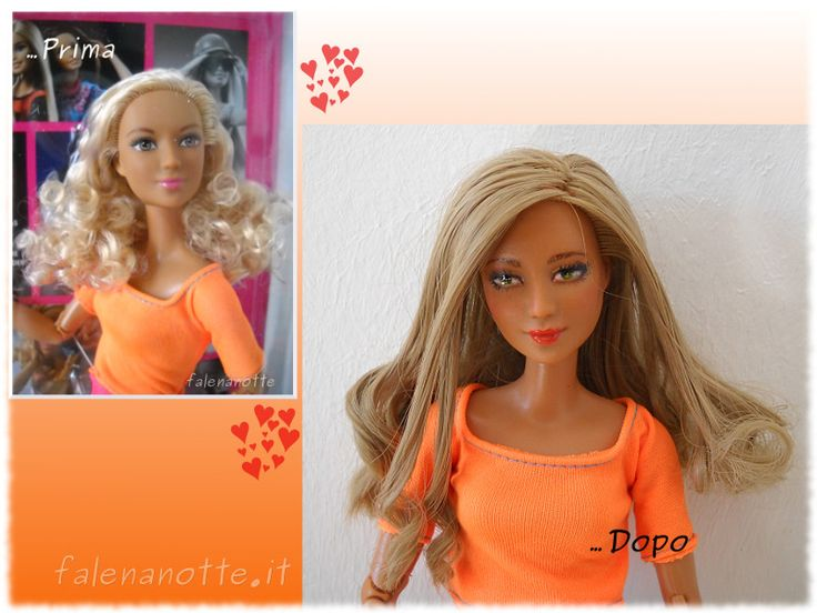 Made to move top arancione Barbie ooak by falenanotte