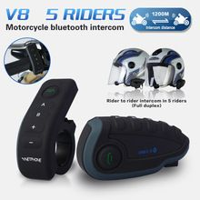 US $109.99 1200M Bluetooth Intercoms with Remote Controller FM NFC 5 Riders Bluetooth Motorcycle Headset Vnetphone V8. Aliexpress product