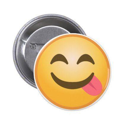 #trendy - #Side Tongue Emoji Button