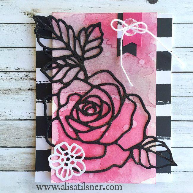 Stampin Up Rose Garden Thinlits