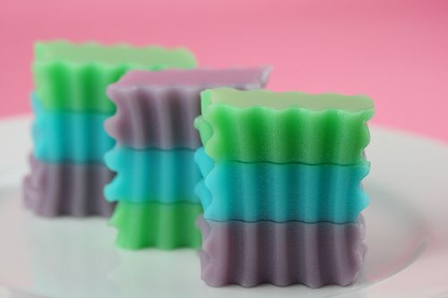 pastel colored jello for easter