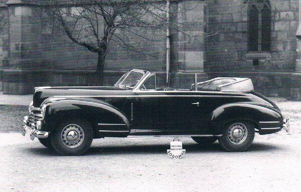 1948 Sodomka Skoda Superb 924 convertible.