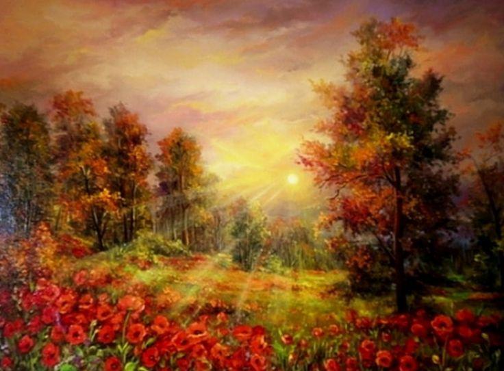 cuadros-de-paisajes-con-flores+(3).jpg (1600×1179)