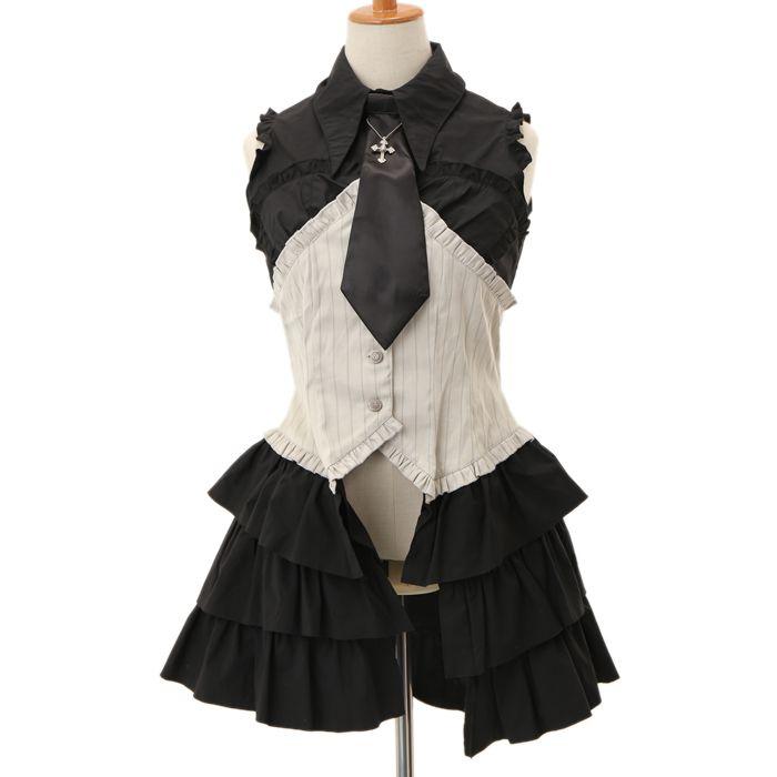 ネクタイ付きシャツ ゴスロリ・ロリータファッション服の通販はワンダーウェルト