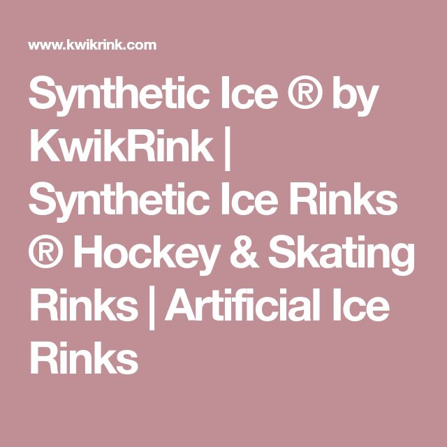 Synthetic Ice ® by KwikRink | Synthetic Ice Rinks ® Hockey & Skating Rinks | Artificial Ice Rinks