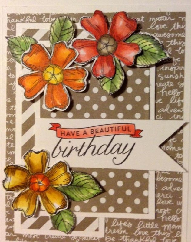 Fall Flowers - Birthday Blossoms by jennie black - Cards and Paper Crafts at…