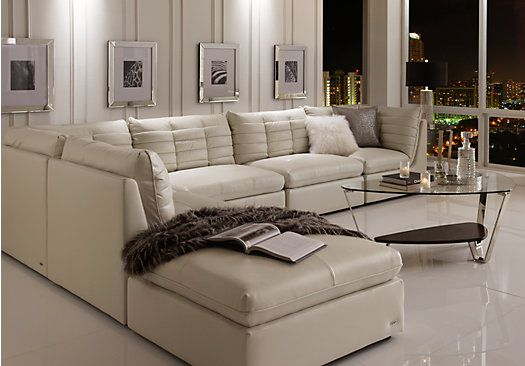 picture of sofia vergara valleta white 6 pc sectional from