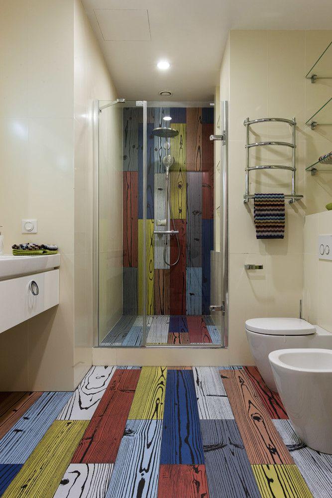 Ванная в  цветах:   Светло-серый, Серый, Коричневый, Бежевый.  Ванная в  стиле:   Минимализм.