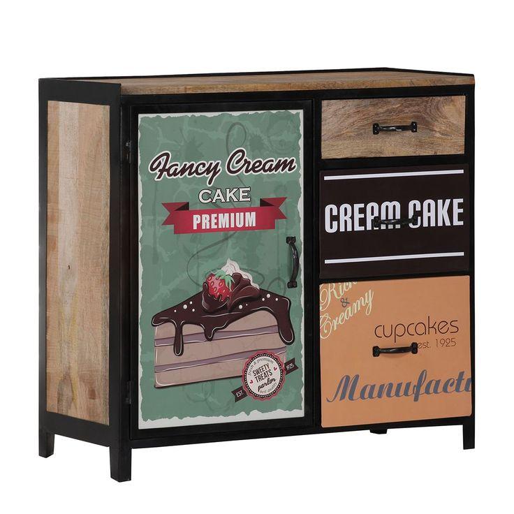 Kommode Cupcake Factory I - Mango Massiv - lackiert/gewachst, ars manufacti Jetzt bestellen unter: https://moebel.ladendirekt.de/wohnzimmer/schraenke/kommoden/?uid=f3cda39c-2e56-548a-a314-1eb9729691b7&utm_source=pinterest&utm_medium=pin&utm_campaign=boards #möbel #schraenke #ars #manufacti #kommoden #wohnzimmer #sideboards